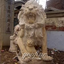roaring lion statue marble roaring lion statues for lawn ornaments with cost