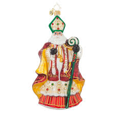 Radko Halloween Ornaments Radko 1017610 St Nicholas Resplendence Jeweled Bishop Santa