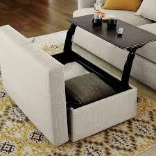 impressive diy storage ottoman coffee table with diy rolling
