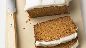carrot tea cake with cream cheese frosting