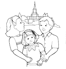 tithing coloring page mormon share temple and family
