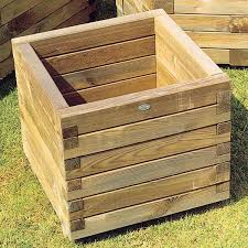 Large Planter Box by Square Wooden Planters Love These Outside Pinterest