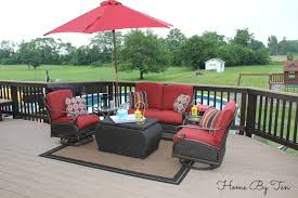 Patio Furniture Conversation Sets Clearance by Home By Ten Patio Conversation Set And Outdoor Rug Home Depot Lowes