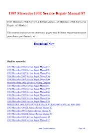 27 1991 mercedes 190e service repair manual 91 pdf 55635