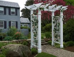 Garden Improvement Ideas Garden Arbor With Gate Intended For Brilliant Styles Of