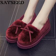 home confinement warm winter home furnishing female overshoes bow cotton slippers