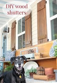 Shutters For Homes Exterior - best 25 wood shutters ideas on pinterest diy exterior furniture
