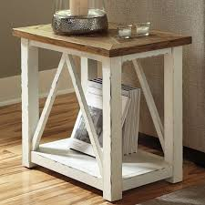 martha stewart end tables rectangle end table in reeve mid century side marble west elm