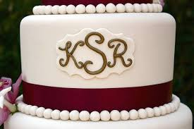 cake monograms of dessert tutorial wedding monogram