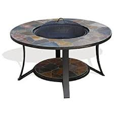 slate fire pit table madeira slate mosaic fire pit table by vistera at the garden
