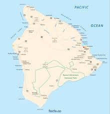 map of hawaii big island hawaii big island map