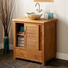 Teak Vanity Bathroom by 35 5