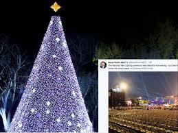 national tree lighting ceremony photos of trump s christmas tree lighting are all kinds of awkward