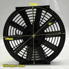 10 inch radiator fan 10 automotive fan 12 volts slim design race spec