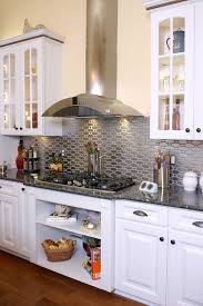 Magnificent Corrugated Metal Backsplash With Stainless Steel Hood - Corrugated metal backsplash