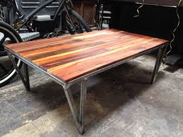 Unique Wooden Coffee Table Enchanting Brown Varnished Reclaimed Wood Coffee Table With Iron
