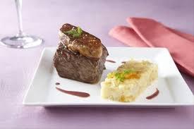 recette cuisine gastronomique recette de pavé de biche façon rossini écrasée de légumes oubliés