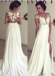 high wedding dresses 2011 discount chiffon wedding dresses 2018 sheer neck lace