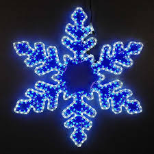 snowflake lights 36 led rope light snowflake cool white blue novelty lights inc