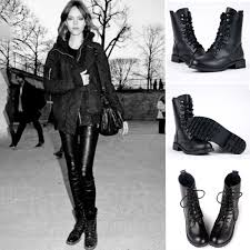 ladies lace up biker boots 2015 women winter pu leather martin boots classic biker motorcycle