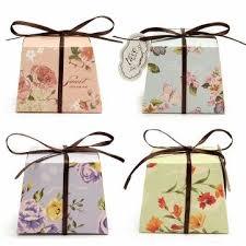 printed ribbons for favors 10pcs floral printed ribbon card candy box birthday gift boxes