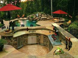 Outside Kitchen Designs Pictures Pool And Outdoor Kitchen Design U2013 Bullyfreeworld Com