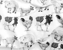 Farm Animals Crib Bedding by Cow Baby Bedding Etsy