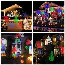 Outdoor Projector Christmas Lights by Laser Projector Lamps Led Stage Light Heart Snow Spider Bowknot