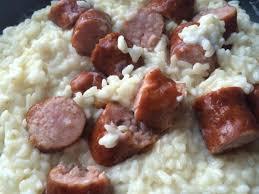 cuisiner des saucisses fum馥s recette risotto à la saucisse fumée 750g