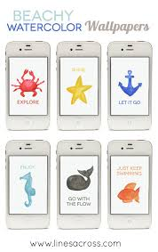 free nautical watercolor iphone wallpapers lines across