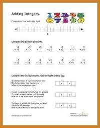 adding integers worksheet notary letter