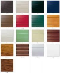 seceuroglide insulated roller door colour chart
