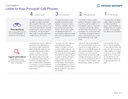 letter to your principal cell phones guides turnitin com