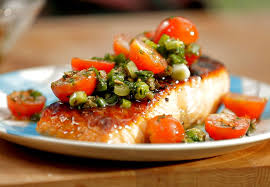cuisiner filet de saumon recette de saumon à la sauce vierge sur le bbq selon bob le chef