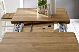Esszimmer Eiche Grau Massivholz Esstisch Erweiterbar 180 280x95 Nordic Home Kiefer