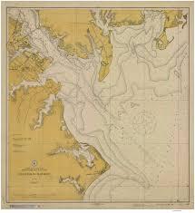 Chesapeake Bay Map Historical Nautical Charts Of Annapolis Harbor Chesapeake Bay