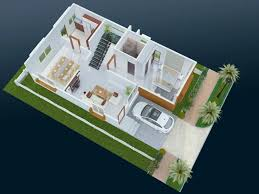 Duplex House Plans 1000 Sq Ft Smt Leela Devi House 20 X 50 1000 Sqft Floor Plan And 3d 1
