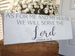 as for me and my house we will serve the lord spiritual sign