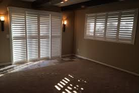 Bypass Shutters For Patio Doors Budget Blinds Victoria Mn Custom Window Coverings Shutters
