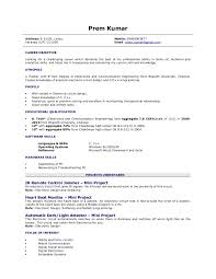 Sample Resume For Freshers Engineers by Fresher Resume 1