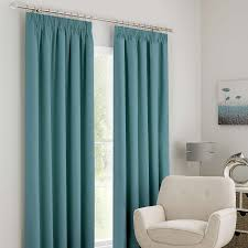 Teal Blackout Curtains Curtain Solar Teal Blackout Pencil Pleat Curtains Dunelm Guest