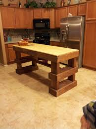 home decor chunky rustic kitchen island do it yourself home