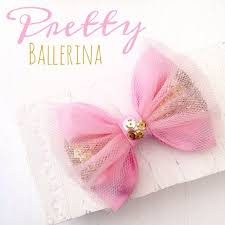 tulle hair bows pink ballerina tulle gold glitter sequin hair bow preppy baby