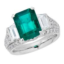 fine emerald rings images Amoro 18k white gold 4 08ct colombian emerald diamond ring jpg