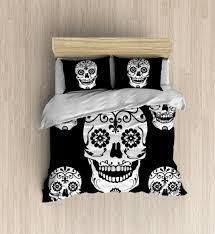 sugar skulls home decor pug bedding accessories walmart com black t shirt idolza