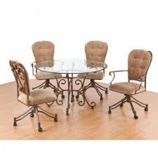 dinette table and chairs with casters swivel tilt caster dining room sets tables chairs