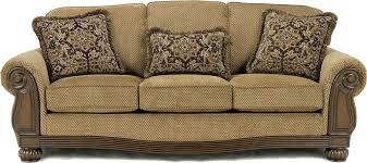 Traditional Sofa Fabric Sofa With Wood Trim Accents