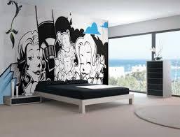 photo wall murals throughout mural interior design rocket potential cute black white graffiti mural teen bedroom interior design idea throughout mural interior design