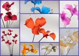 flores de foamy lilios ramos de mimbre con 12 flores foami en 2 alturas 350 00