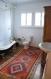 Stylish Bathroom Rugs Orange Ethnic Colorful Bath Rugs For Traditional Bathroom Ideas